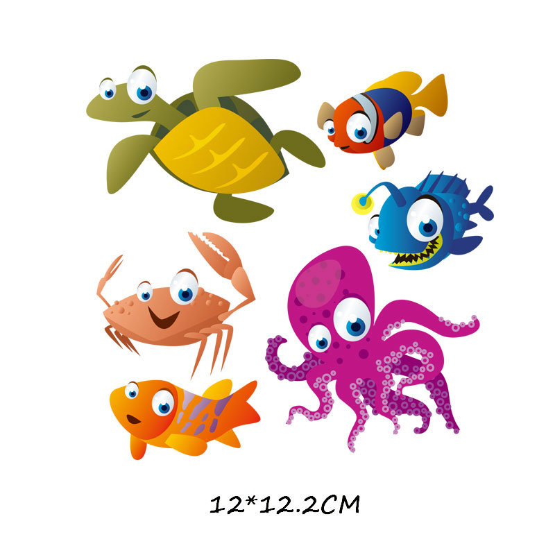 Железные милые нашивки в виде животных набор для детей Одежда DIY Футболка аппликация теплопередача виниловая нашивка единорога наклейки термопресс - Цвет: 749