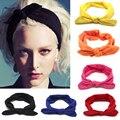 1 piezas de moda Bowknot para el pelo diademas elástico conejo retorcido turbante accesorios para peluquería herramientas