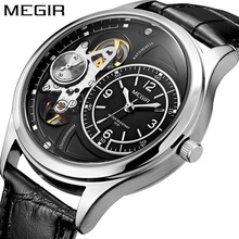MEGIR Original Men Watch Top Brand Luxury Quartz Watches Relogio Masculino Leather Military Watch Clock Men Erkek Kol Saati 2017 sinobi brand sport quartz watch men fashion business hours erkek kol saati watches military mens watches relogio masculino 2017