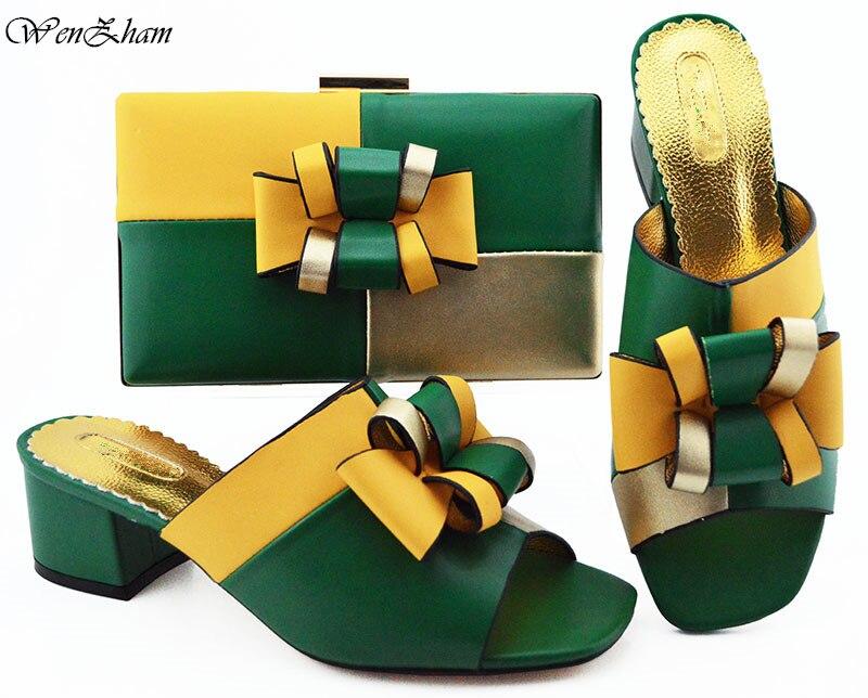 أحدث تصميم الأفريقي الزفاف الأحذية و مجموعة الحقائب أسود مختلط الأبيض المبيعات في النساء مطابقة الأحذية و مجموعة الحقائب للحزب B93 3-في أحذية نسائية من أحذية على  مجموعة 3