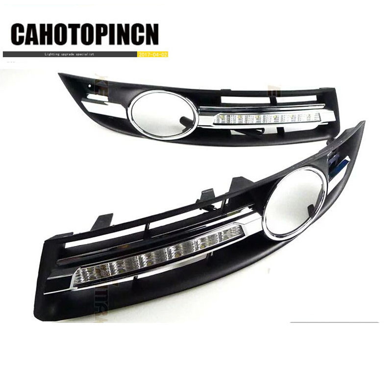 Super bright Waterproof car light DRL LED Daytime Running Lights with fog lamp hole For VW