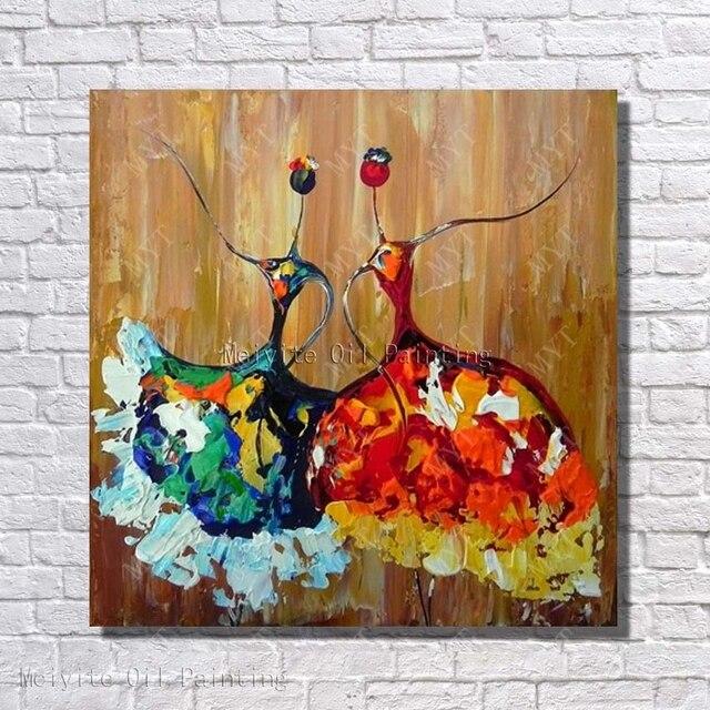 Wand Design Tanz Mädchen Ölgemälde Abstrakte Moderne Leinwandbilder ...