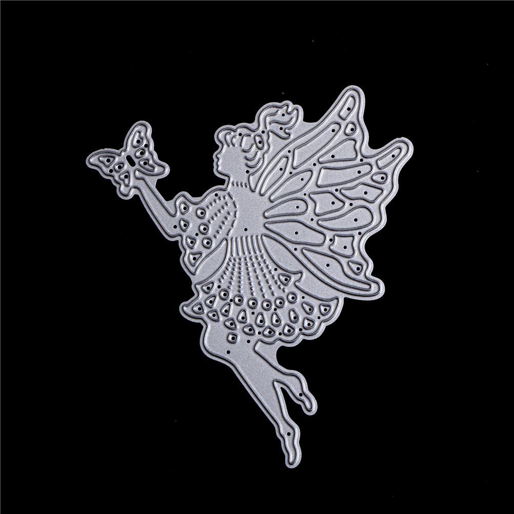 Round Flower Fairy Metal Cutting Dies Stencil Scrapbooking Embossing Craft RF