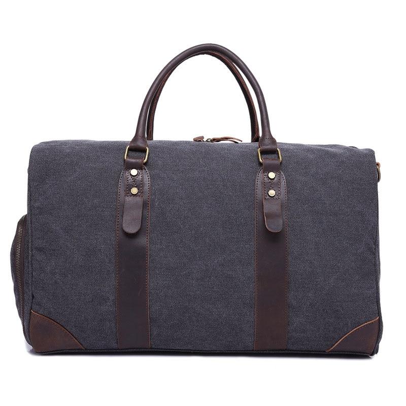 купить Vintage Canvas Travel Zipper Bag Men Hand Luggage 2018 New Canvas Weekend Travel Men Multifunctional Travel Large Capacity Bags недорого