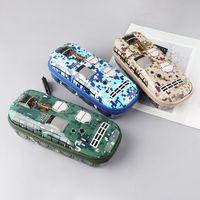 Creative Car Camouflage Pencil Bag With Lock Pen Storage Organizer Office School Supplies Stationery Boy Gift