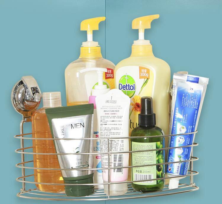 Ventouse douche profonde Caddy bain étagère murale pour grand shampooing douche Gel titulaire salle de bain rangement-inox antirouille