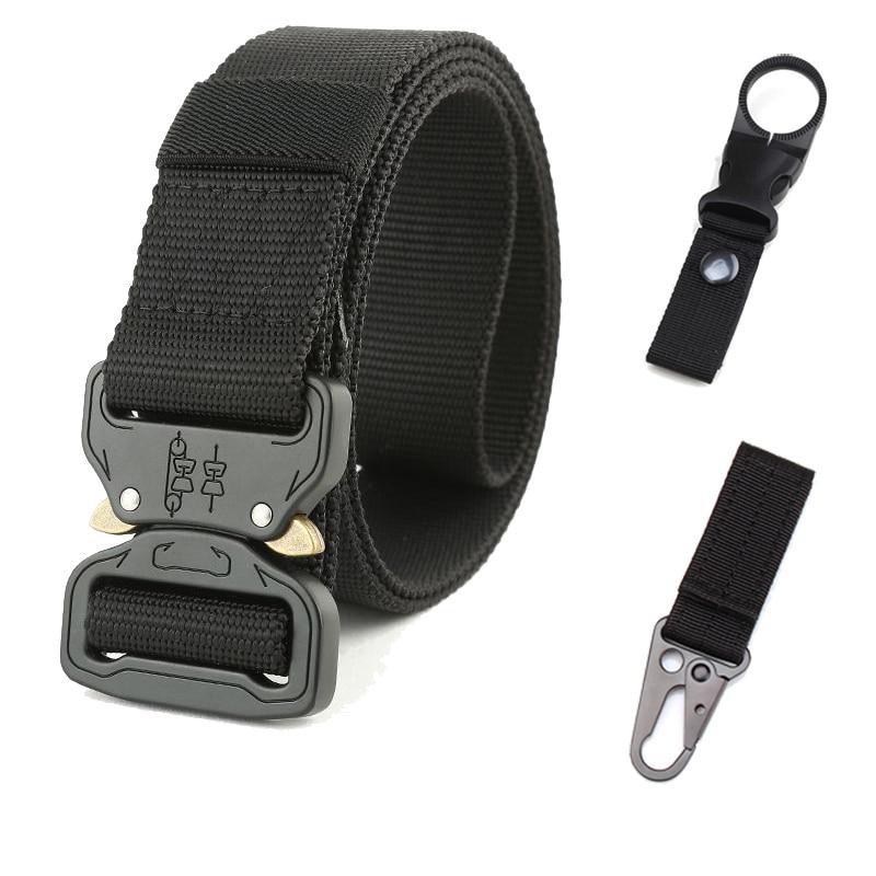 New 125cm Cobra Buckle Tactical   Belt   3.8cm High Quality Nylon Casual Canvas   Belt   For Men Women Camouflage Braided   Belt   HE1