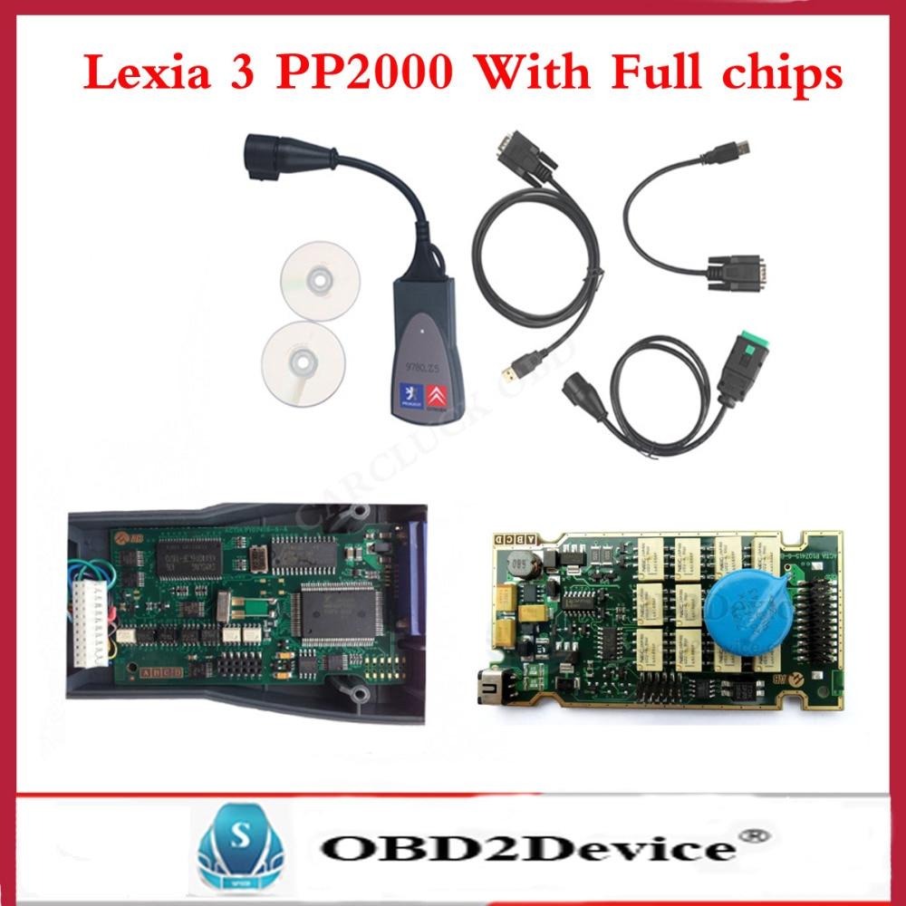 2016 New PP2000 V25 Lexia 3 V48 Diagbox 7 76 Original Full Chip Lexia 3 PP2000