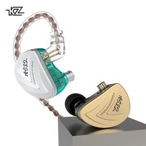 Image 3 - Внутриканальные наушники KZ AS12, Hi Fi, 12ba, сбалансированные арматурные наушники вкладыши, IEM с 2 контактным разъемом 0,75 мм, съемный кабель, наушники вкладыши с шумоподавлением