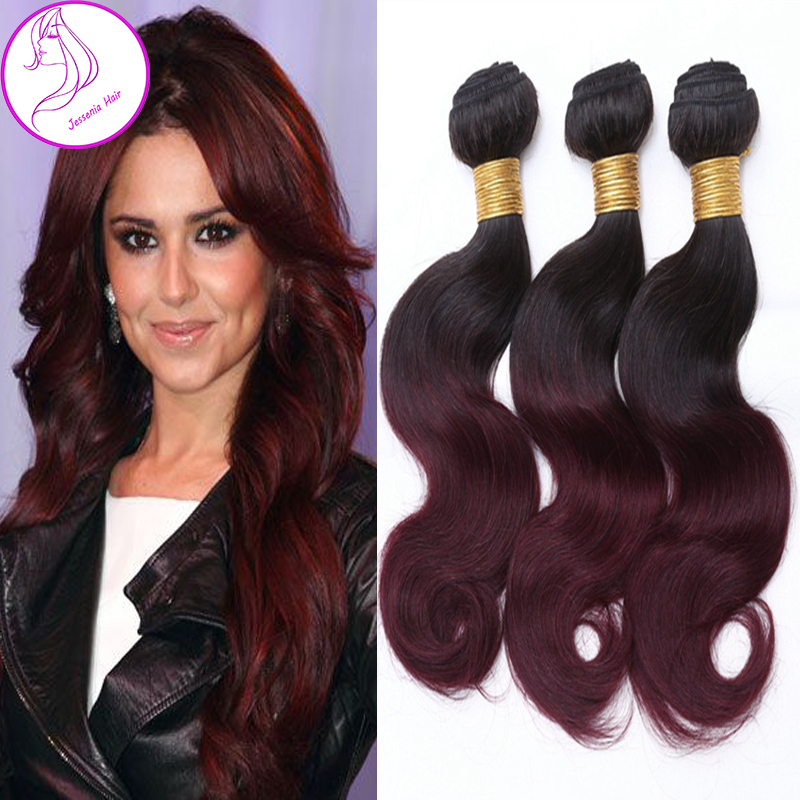 Indian Body Wave Ombre Hair 3 Bundles 1B99J Two Tone -8574