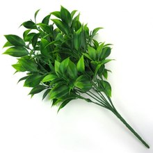 7 Forks/Bouquet 35 Leaves 34cm Artificial Orange Leaf Simulation Plants Home Balcony Garden Landscape Decoration Accessories(China)