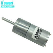 Bringsmart 25GA370 Shaft Length 25MM 12V DC Gear Motor D Shape Long Shaft Motor Extended Shaft Reducer 24 volt DC Metal Gear
