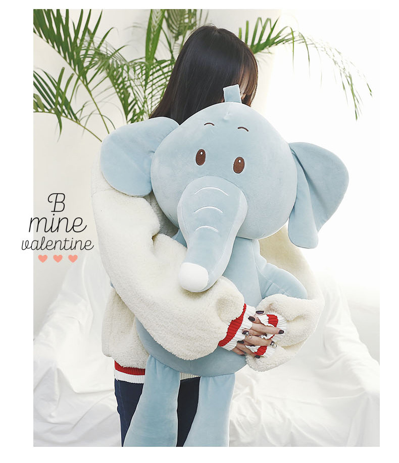 Nouveau style grand 70 cm belle bande dessinée éléphant en peluche jouet doux poupée jeter oreiller cadeau de noël b1831