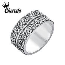 Chereda Norse Viking Biker Rings for Men Punk Personality Wide Ring Thumb Finger Ring Unisex Husband Jewelry Gift(China)
