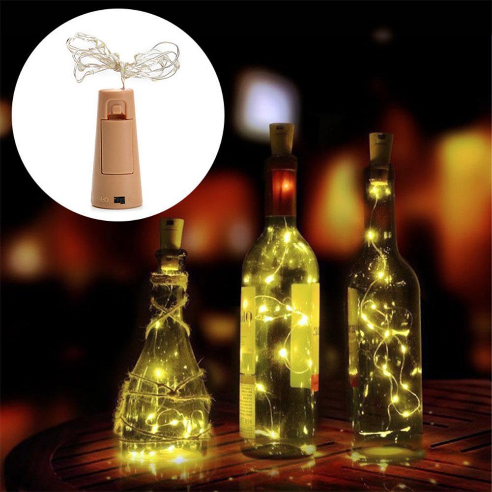 HobbyLane Birthday Party Decor 2M LED Garland Chain DIY Fairy Lights For Glass Bottle Craft New Year Christmas Valentine Wedding
