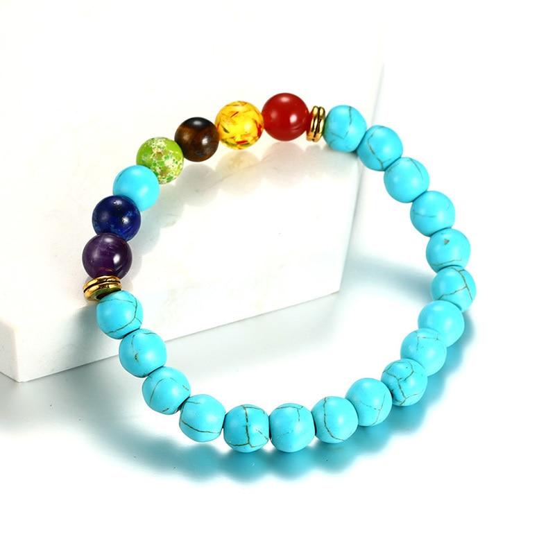 7 Chakra Turkey Stone Healing Balance Bracelets for Women Men Wrist Mala Yoga Reiki Braslet Pulseira Masculina Ornament