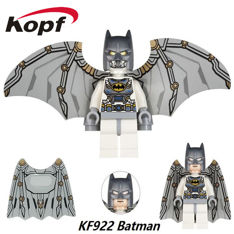 Single Sale Super Heroes Batman With Wings Bruce Wayne Robin Catwoman Riddler Bricks Building Blocks Children Gift Toys KF922 single sale pirate suit batman bruce wayne classic tv batcave super heroes minifigures model building blocks kids toys gifts