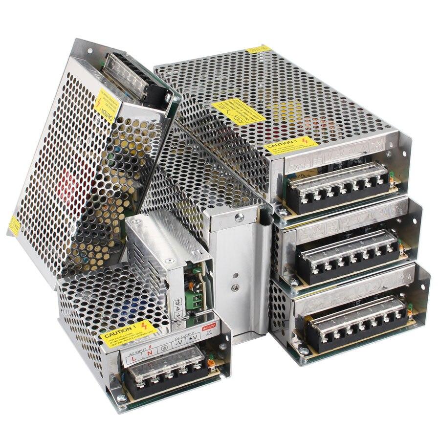 Courant alternatif 5V 12V 24 V Alimentation transformateurs d'éclairage ca cc 220V à 5 12 24 V Volt LED d'alimentation