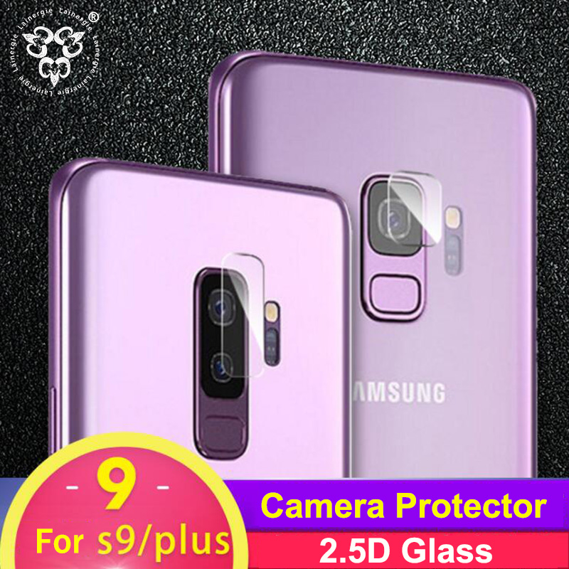 Lainergie 10PCS Back Rear Camera Lens Protector for Samsung Galaxy S9 Plus Camera Protector Soft Tempered Glass Protective Film