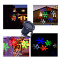 LED Projector Snowflake Landscape lamp Multi-color snow Moves Automatically LED Spotlight Stage Projector Light Wall Decoration
