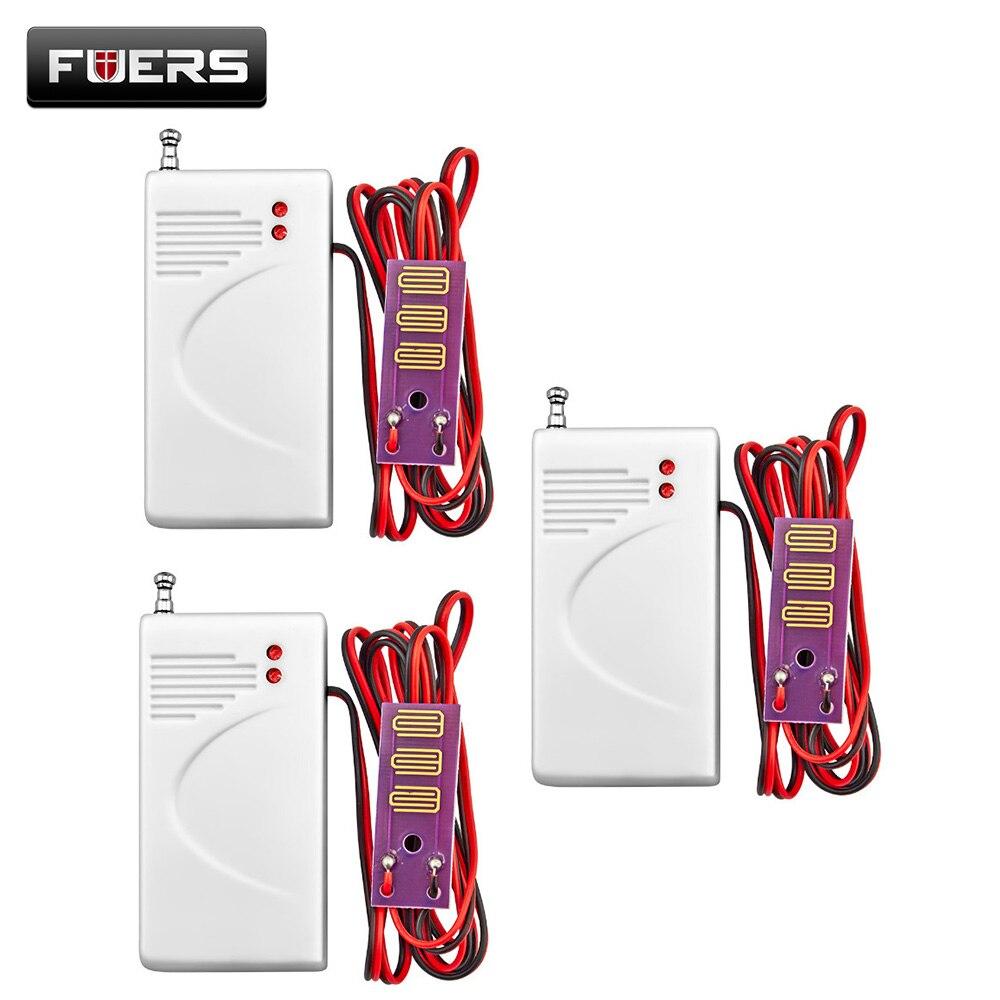 imágenes para 3 unids/kit wilress 433 Mhz detector de fugas de agua Alarma General Wireless Alerta Sistema Detector de Fugas de Agua Seguridad Sensor