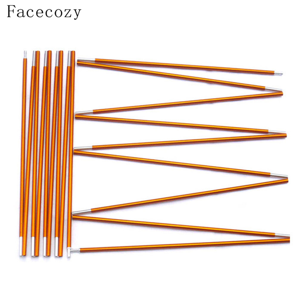Facecozy 2 PCS/Set 4.05m*8.5mm Tent Support Poles Aluminum Alloy Folding Camping Outdoor Accessories 11 Section Rod Pole