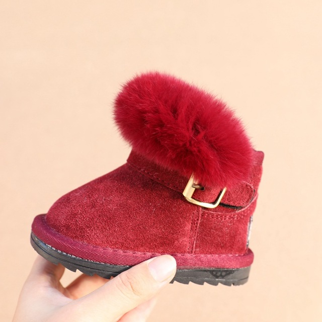 0726f42c965a POSH DREAM Baby Boys and Girls Winter Shoes Cow Leather Infant Toddler Baby Girls  Winter Snow Boots Girls Elegant Boots for Baby