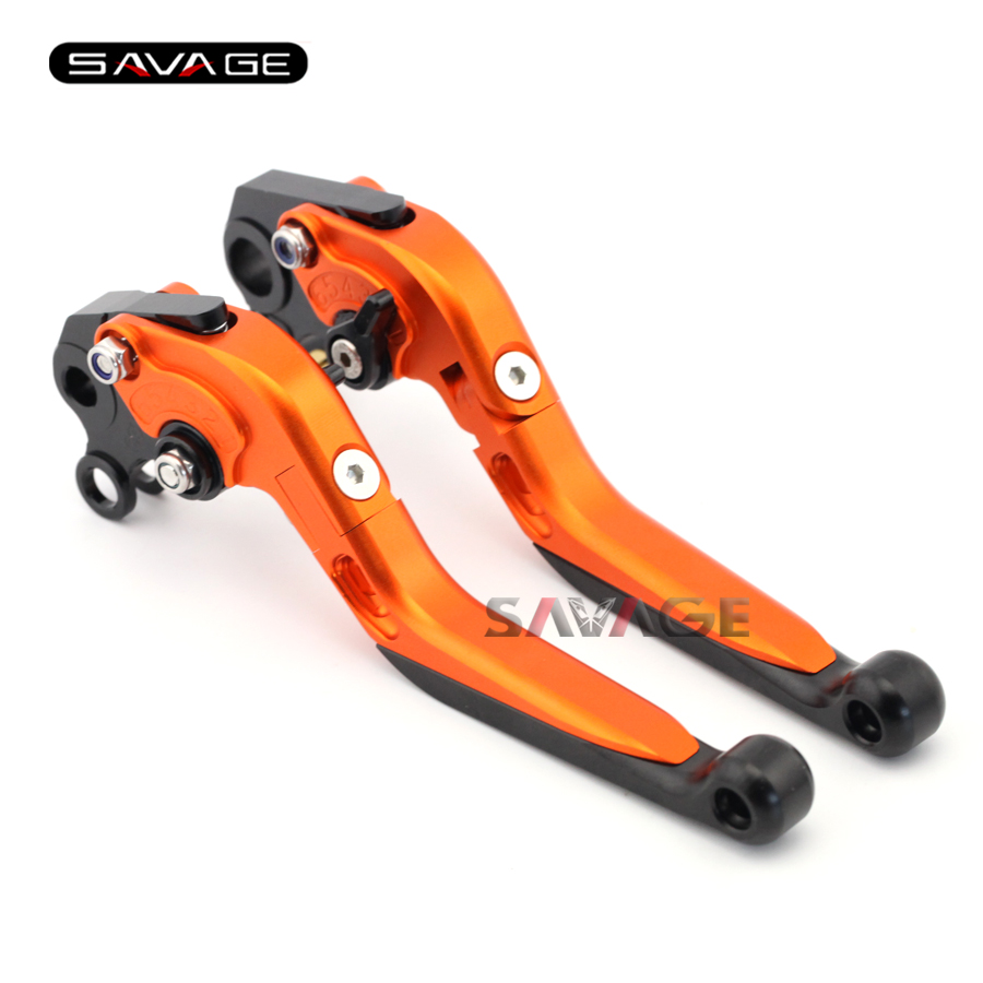 For KTM 690 SMC / DUKE 2012-2013 Motorcycle Accessories Adjustable Folding Extendable Brake Clutch Levers Orange 2017 hot motorcycle adjustable folding extendable brake clutch levers motorbike brake for ktm duke 690 smc smcr 2014 2015 2016