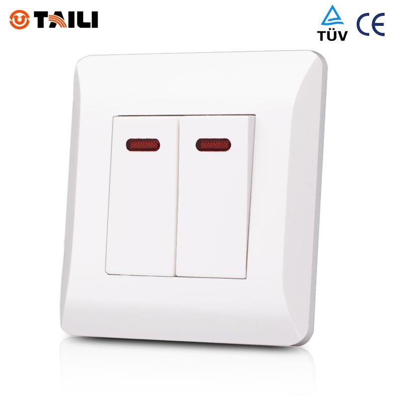 Wall Switch Panel 2 Gang 2 Way interrupteur Light Switch ...