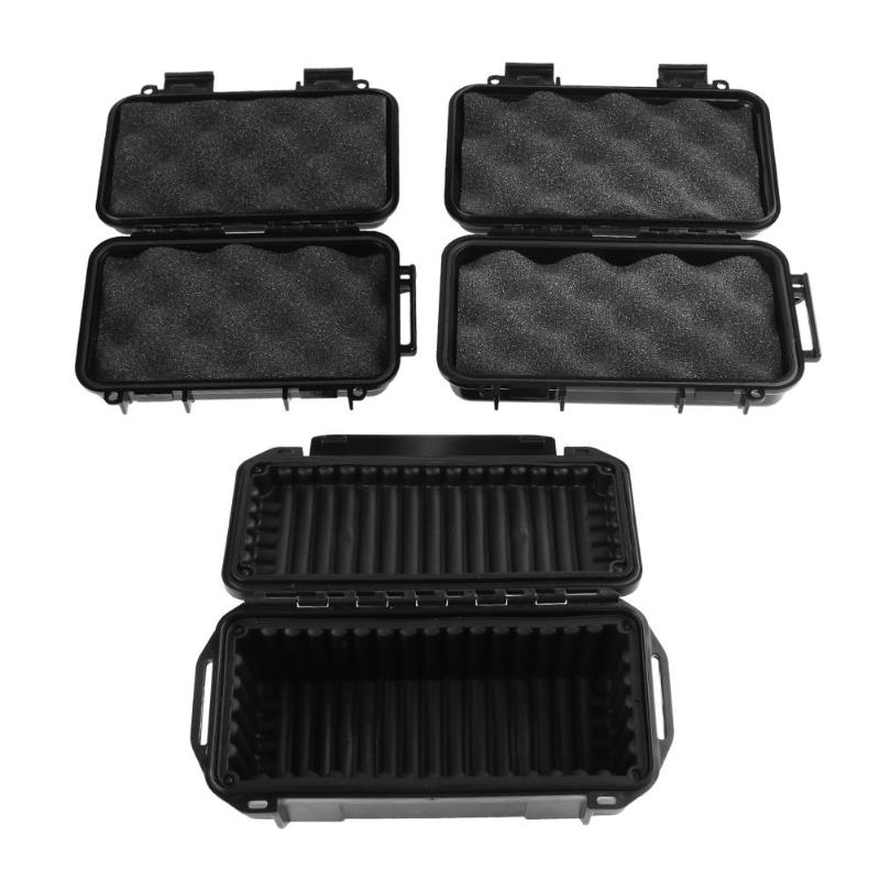 Waterproof Safety Case Abs Plastic Tool Box Outdoor Phone Electronic Gadgets Airtight Survival Case Container With Foam Lining