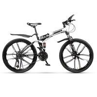 21 переменная скорость горный велосипед 24 и 26 дюймов складной горный велосипед двойной демпфирующий дисковые тормоза 10 велосипед складной г...