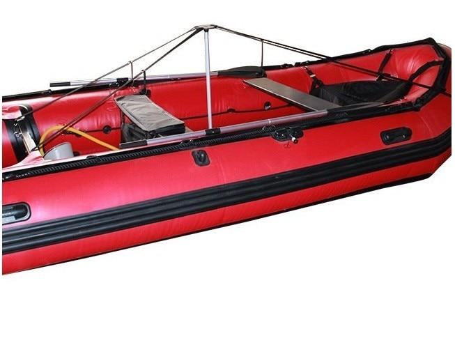 Système de poteau de Support de couverture de bateau 3 Sections pour ponton/Vhull/poisson/bateau à Ski. Aluminium télescopique avec sangles