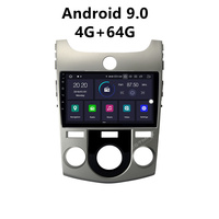 JSTMAX 9'' Android 9.0 4G + 64G ISP Screen Car DVD Radio Stereo Player For Kia Cerato Nazao Forte Radio