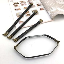 KISSDIY 10 pièces 20 25 30CM métal interne Flex sac à main cadre avec boucles sac accessoires fermoir à ressort