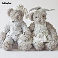 35Cm 14 New Teddy Bear Plush Toys Soft Bears Toy Lovers Gifts Dolls Clothes Kawaii Teddy