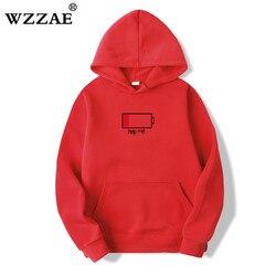 WZZAE 2018 Low Help Me Hoodies Men 3D Creative Hooded Sweatshirts Fashion Streetwear Hip Hop Black Hoodie Male Plus Size S-XXL 3