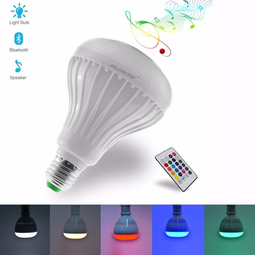 Fvtled Led Light Bulb With Bluetooth Speaker E27 Rgbw
