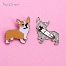 free shipping Cheap pet products bronch pins dog shape soft enamel metal parts