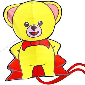 Cartoon Animal Bear Kite Single Line Flying for Children Kids Outdoor Toys Beach Park Playing
