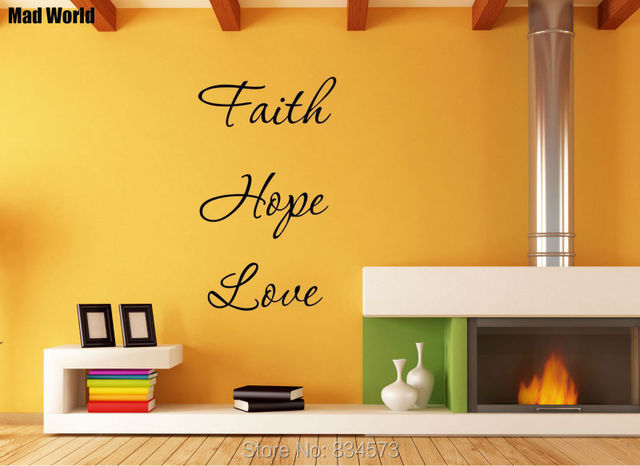 Mad World Faith Hope Love Quote Wall Art Stickers Decal Home DIY ...