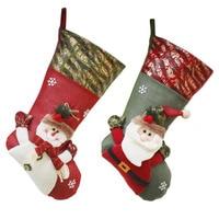 Christmas Stockings Socks Christmas Gift Bag Candy Present Socks Lovely Hanging Ornament Decoration for Kids