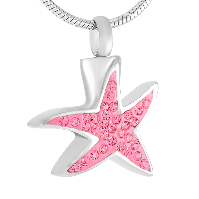 Crystal Starfish Memorial Necklace