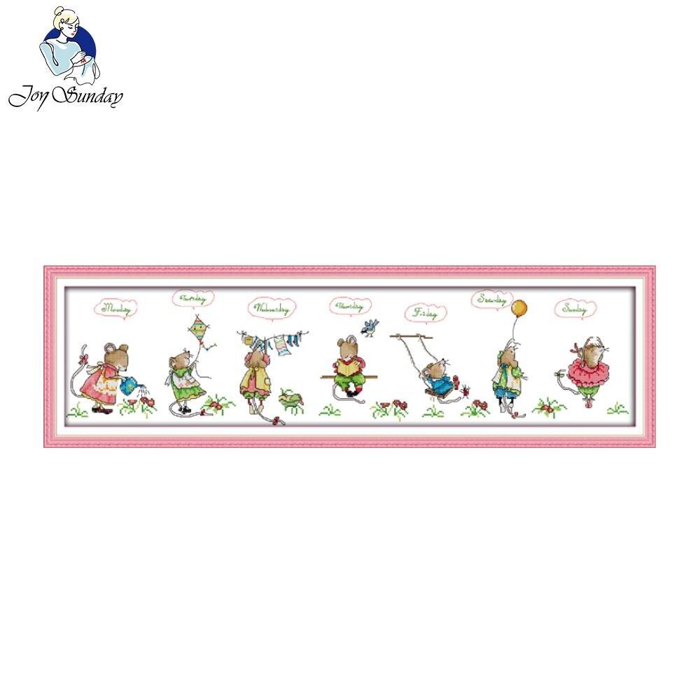 Gioia domenica stile cartone animato felice mouse