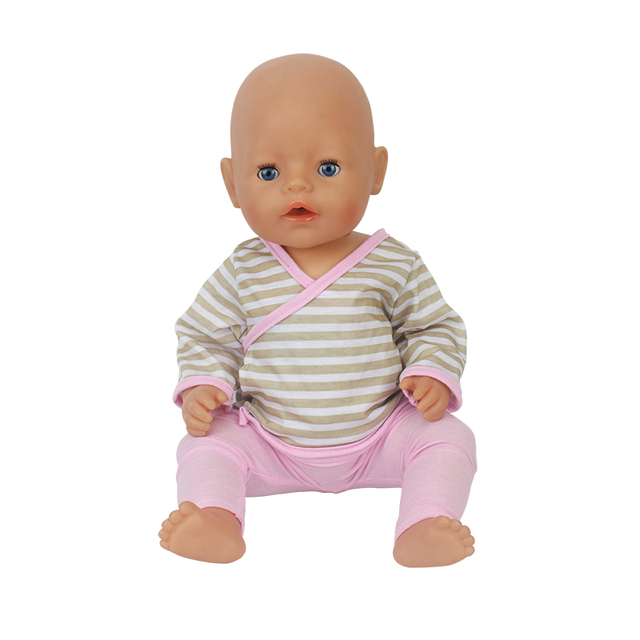 a54a2cdce Grid leisure 1set Doll Clothes Wear fit 43cm Baby Born zapf ...