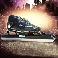 JEERKOOL Ice Skates Women Speed Figure Skating Ice Skates Carbon / Fiberglass Metal Fix Location Knife Racing Blade Shoes IC8