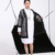 2017 nueva moda Más elegantes agujero Redondo Hueco Espacio algodón Rompevientos ropa Exterior negro primavera sueltos en stock 4WT0021