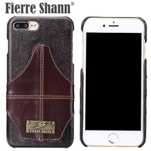 hot deal buy fierre shann case for iphone 7 7 plus luxury fashion genuine leather card slots cases cover for iphone 7 plus back shell bag