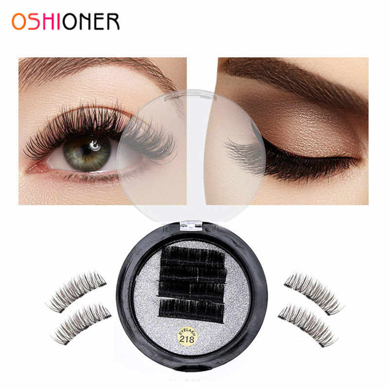 a8f56d7fa8a Magnetic False Eyelashes 3D Black Triple Magnetic Ultra Thick Ultra Solf  and For Entire Eyes Glamorous