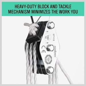 Image 4 - Горячая продажа 180кг лебедка из нержавеющей стали грузовой подъемный шкив набор экономичная лебедка двойной 4 паза шкив трудосберегающий подъемный инструмент