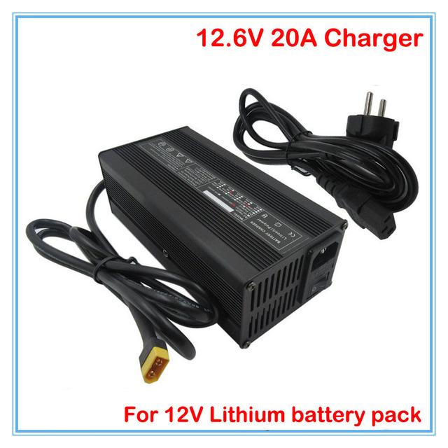 360W 12V 20A 12.6V 20A Li-ion Charger with Aluminum case Use for 3S 11.1V 12V lithium Battery pack Toy car fast charger